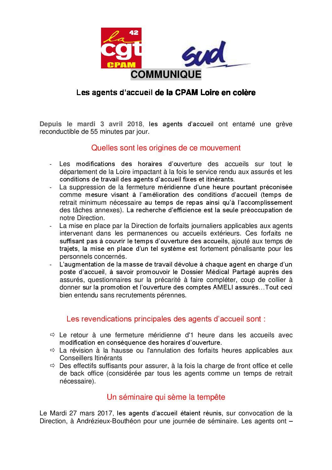 Les agents de la CPAM de la Loire en Colère