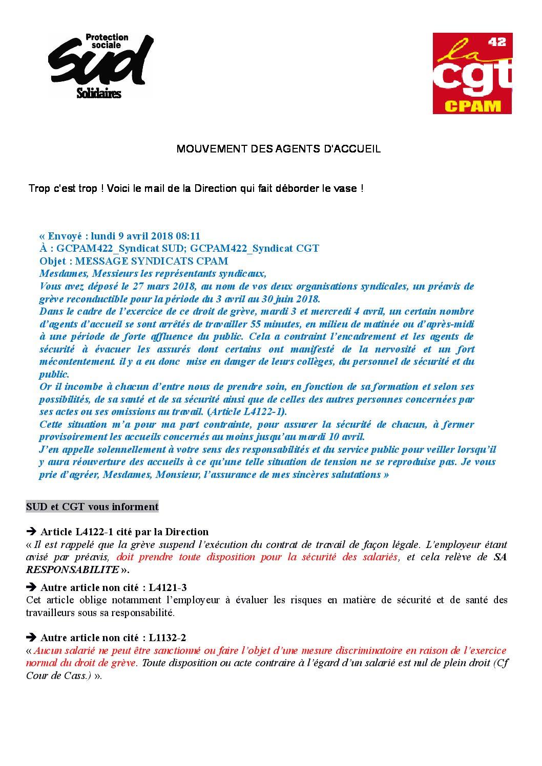 Grève des agents d'accueil à la CPAM de la Loire