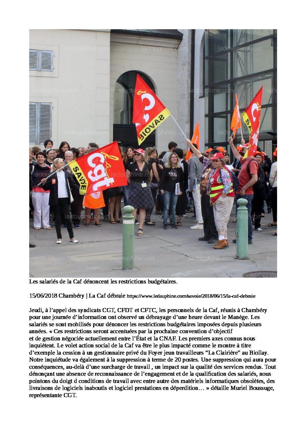 Les salariés de la CAF Savoie en action