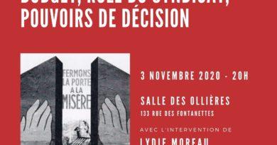 Formation-Débat le 03 novembre sur la sécu à Hauteville
